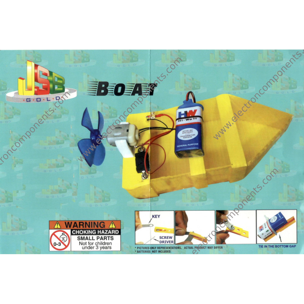 DIY - Motor Boat with propeller Kit - Tested & Verified (Educational projects and learning DIY kit)