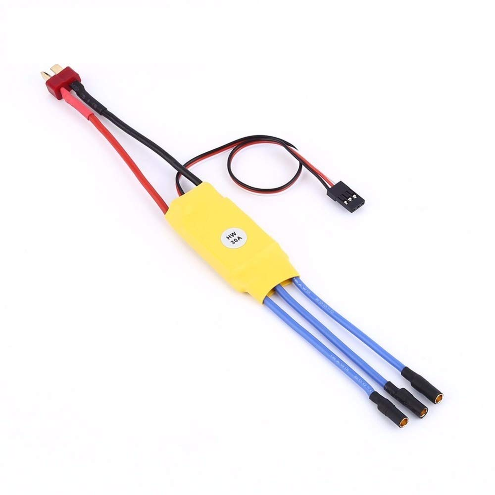 30A BLDC ESC - Brushless Motor Speed Controller with Connectors