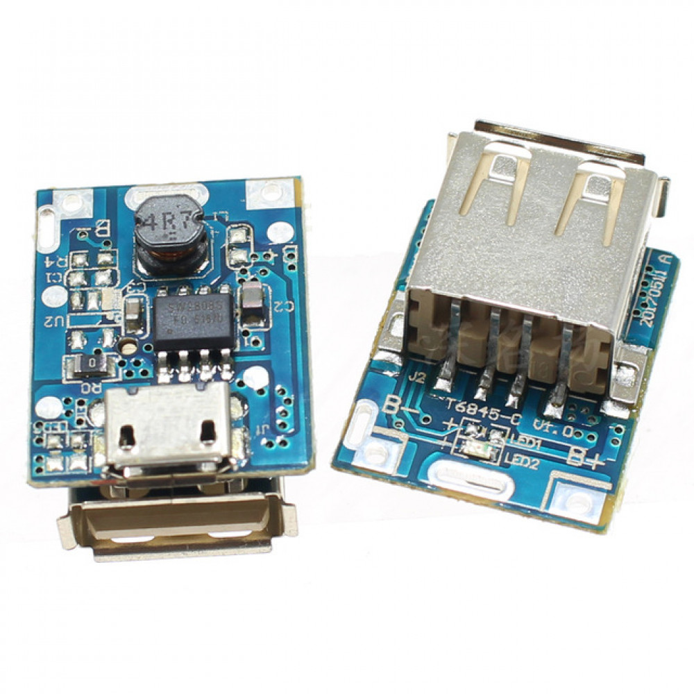 USB 5V Step-Up Power Module Lithium Battery Charging Protection Board