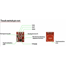 Touch Sensor Module Board (TTP223 Touch Key / Touch Switch) 1 Channel - [Compatible with Arduino]