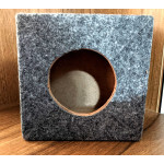 "2 pcs - Woofer Box - Wooden for 4"" (square box) - Speaker / woofer box - grey"