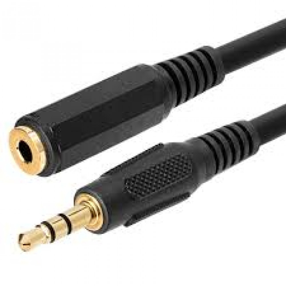 Audio Stereo 3.5mm Extension (Female to Male) cable : 1.5m extension (High quality)
